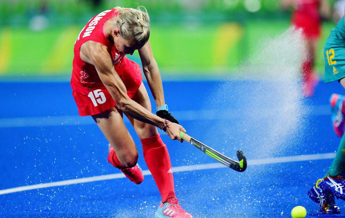 RIO - Women's Olympic Hockey tournament 02 Great Britain - Australia foto: Alex Danson shoots. WORLDSPORTPICS COPYRIGHT FRANK UIJLENBROEK