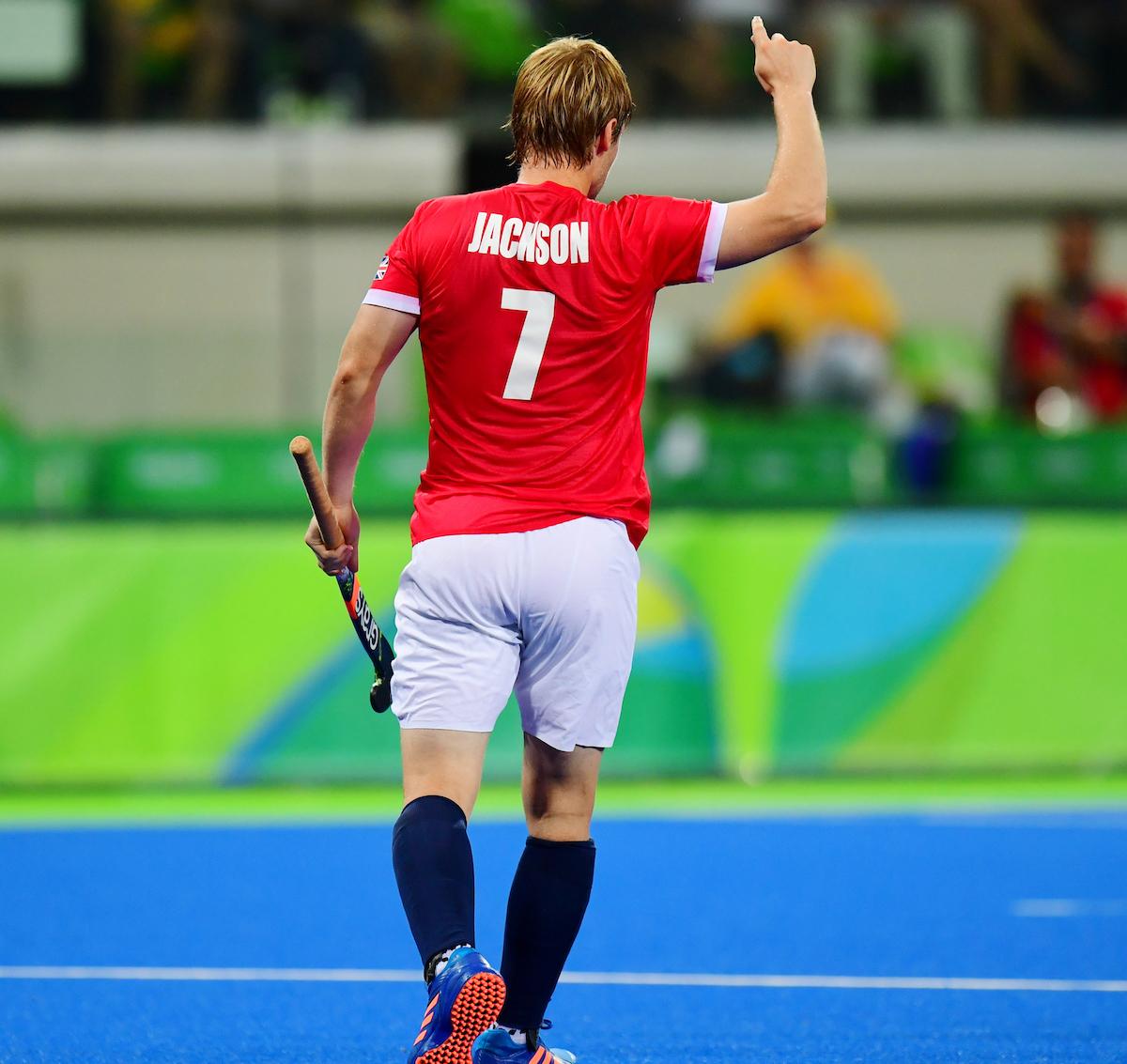 RIO - Men's Olympic Hockey tournament 16 Brasil - Great Britain foto: Ashley Jackson scored. WORLDSPORTPICS COPYRIGHT FRANK UIJLENBROEK