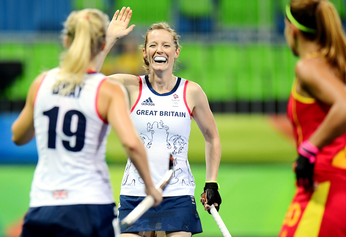 RIO - Women's Olympic Hockey tournament QF3 Great Britain - Spain Foto: GB scored/ Helen Richardson-Walsh. WORLDSPORTPICS COPYRIGHT FRANK UIJLENBROEK
