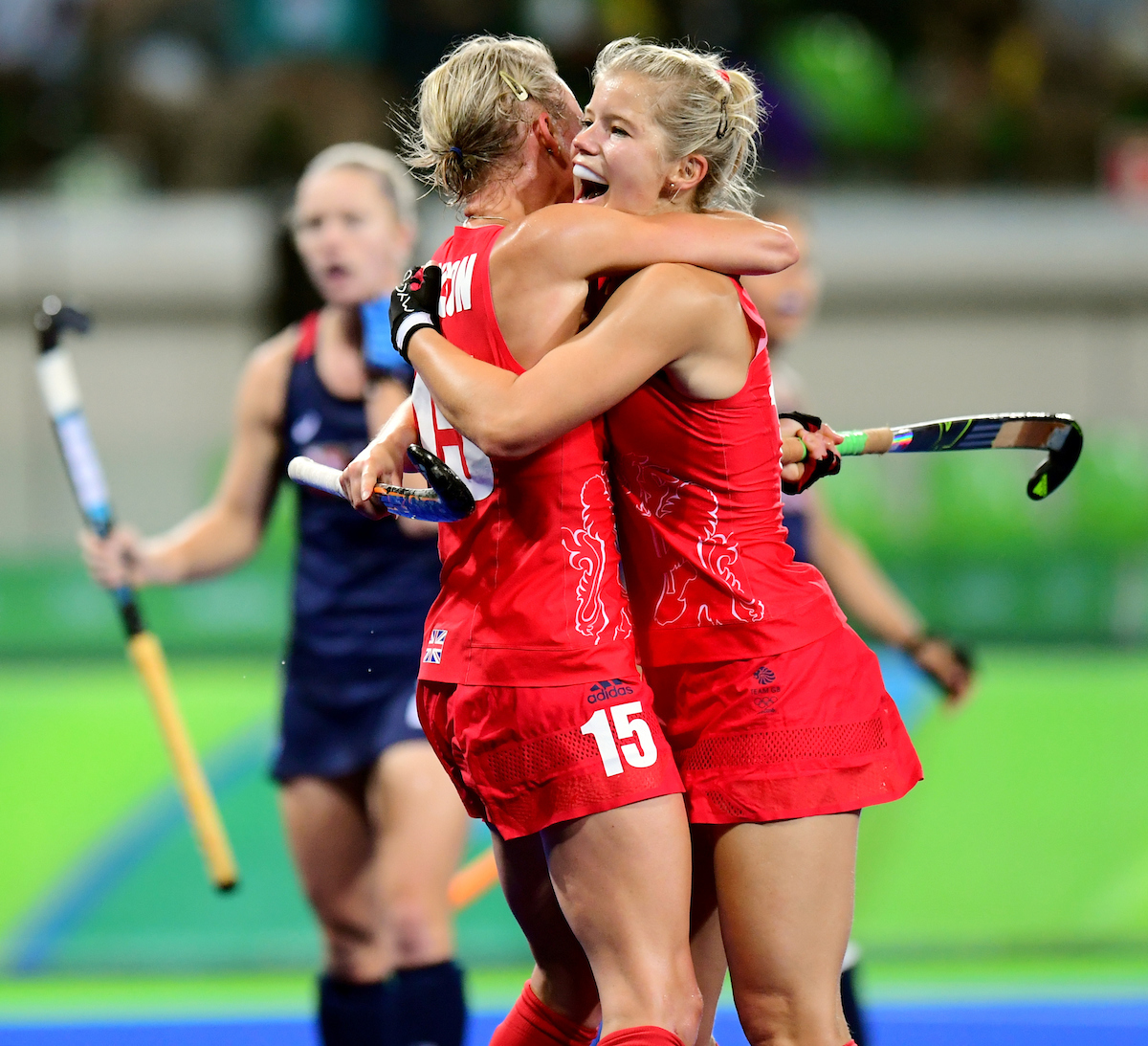 RIO - Women's Olympic Hockey tournament W28 Great Britain - USA Foto: Alex danson and Sophie Bray. WORLDSPORTPICS COPYRIGHT FRANK UIJLENBROEK