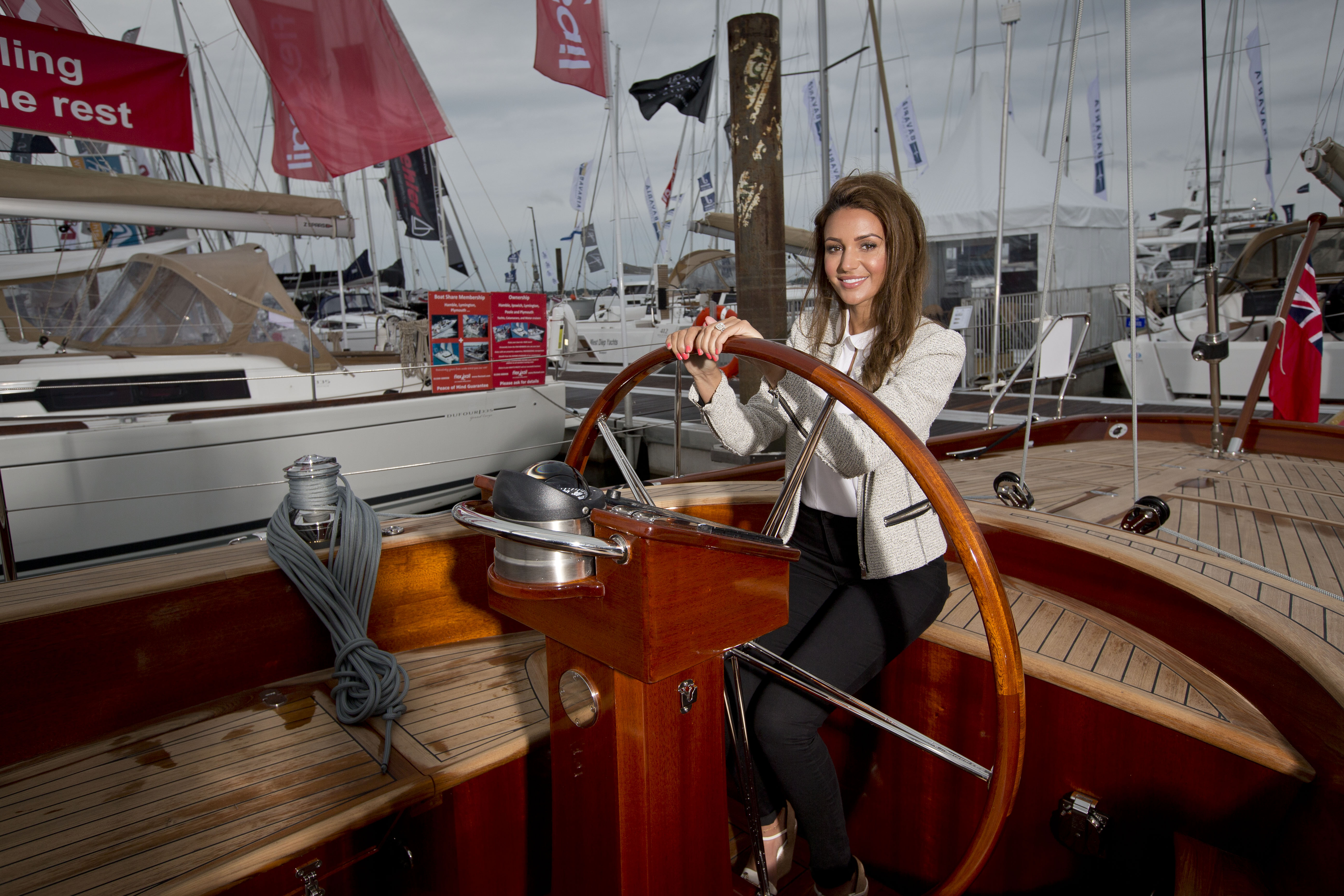 20150916 Copyright onEdition 2015©  Free for editorial use image. Michelle Keegan opens the Southampton Boat Show on Press Day. The 16-25 September 2016 marks a unique date in the boating calendar, the 48th Southampton Boat Show. The festival of boating, will host over 131 boat debuts; close to 600 exhibiting brands Ð 27 of which are new for 2016 and hundreds of boats on display, including 330 on the ShowÕs stunning Marina, powered by Kube, which is one of EuropeÕs largest purpose-built marinas with over 2km of pontoons. Ê Throughout the Show, visitors can marvel at boats ranging from £300 Stand Up Paddleboards to aspirational multi-million pound luxury yachts. The wide variety of attractions this year include the Artemis tall ship; The Festival Stage, powered by Datatag and the COMPASS scheme, which will feature fashion shows and live music; the Royal Navy Parachute Display Team; spectacular air displays from two Spitfire & Hurricane aircrafts and MarlinÕs Charity Mission. Ê There are plenty of ways to get out on the water at the Show with On The WaterÕs Get Afloat Ð a way for 8-16 year olds to learn about boating and watersports for free; On The WaterÕs Try-a-Boat Ð which gives visitors unique experiences onboard the latest RIBs and luxury yachts; Bumper Boats, sponsored by Sunseeker in support of Macmillan Cancer Trust Ð suitable for children aged 3-13; Wet Wheels - a 9m Cheetah Catamaran that has been specially adapted for wheelchair access; the Suzuki RIB Experience which offers a fantastic chance to get out on the water in a 7.8m RIB; the Global Challenges Sailing Experience on board a 72ft Round the World Ocean Race Yacht and the luxurious Platinum Experience ticket package which includes a trip out on a luxury motor yacht. Ê Special events during the 10-day event include Careers Day when the Show will be putting on activities to promote marine careers and apprenticeships; Ladies Day, sponsored by Irwin Mitchell, to celebrate the women leading the world of sailing and working in the marine industry; a Guinness World Record Attempt which will attempt to break the Guinness World Record for the ÔLargest human image of a boatÕ; the Battle of the Classes Pursuit Race and Honda RYA Youth RIB Championship National Final. This image has been supplied by onEdition and must be credited onEdition. The author is asserting his full Moral rights in relation to the publication of this image. All rights reserved. Rights for onward transmission of any image or file is not granted or implied. Changing or deleting Copyright information is illegal as specified in the Copyright, Design and Patents Act 1988. If you are in any way unsure of your right to publish this image please contact onEdition on 0845 900 2 900 or email Info@onEdition.com20150916 Copyright onEdition 2015©  Free for editorial use image. Michelle Keegan opens the Southampton Boat Show on Press Day. The 16-25 September 2016 marks a unique date in the boating calendar, the 48th Southampton Boat Show. The festival of boating, will host over 131 boat debuts; close to 600 exhibiting brands Ð 27 of which are new for 2016 and hundreds of boats on display, including 330 on the ShowÕs stunning Marina, powered by Kube, which is one of EuropeÕs largest purpose-built marinas with over 2km of pontoons. Ê Throughout the Show, visitors can marvel at boats ranging from £300 Stand Up Paddleboards to aspirational multi-million pound luxury yachts. The wide variety of attractions this year include the Artemis tall ship; The Festival Stage, powered by Datatag and the COMPASS scheme, which will feature fashion shows and live music; the Royal Navy Parachute Display Team; spectacular air displays from two Spitfire & Hurricane aircrafts and MarlinÕs Charity Mission. Ê There are plenty of ways to get out on the water at the Show with On The WaterÕs Get Afloat Ð a way for 8-16 year olds to learn about boating and watersports for free; On The WaterÕs Try-a-Boat Ð which gives visitors unique experiences onboard the latest RIBs and luxury yachts; Bumper Boats, sponsored by Sunseeker in support of Macmillan Cancer Trust Ð suitable for children aged 3-13; Wet Wheels - a 9m Cheetah Catamaran that has been specially adapted for wheelchair access; the Suzuki RIB Experience which offers a fantastic chance to get out on the water in a 7.8m RIB; the Global Challenges Sailing Experience on board a 72ft Round the World Ocean Race Yacht and the luxurious Platinum Experience ticket package which includes a trip out on a luxury motor yacht. Ê Special events during the 10-day event include Careers Day when the Show will be putting on activities to promote marine careers and apprenticeships; Ladies Day, sponsored by Irwin Mitchell, to celebrate the women leading the world of sailing and working in the marine industry; a Guinness World Record Attempt which will attempt to break the Guinness World Record for the ÔLargest human image of a boatÕ; the Battle of the Classes Pursuit Race and Honda RYA Youth RIB Championship National Final. This image has been supplied by onEdition and must be credited onEdition. The author is asserting his full Moral rights in relation to the publication of this image. All rights reserved. Rights for onward transmission of any image or file is not granted or implied. Changing or deleting Copyright information is illegal as specified in the Copyright, Design and Patents Act 1988. If you are in any way unsure of your right to publish this image please contact onEdition on 0845 900 2 900 or email Info@onEdition.com