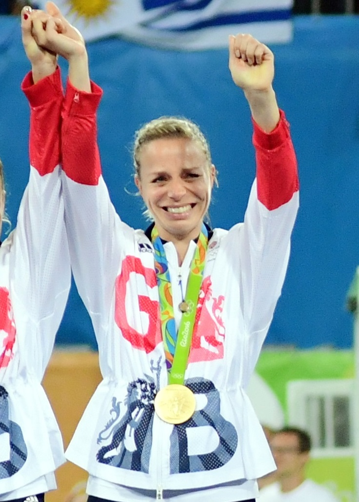 RIO - Women's Olympic Hockey tournament Gold medal match: Netherlands - Great Britain Great Britain Olympic champion. Foto:  Great Britain on podium with the medals. WORLDSPORTPICS COPYRIGHT FRANK UIJLENBROEK